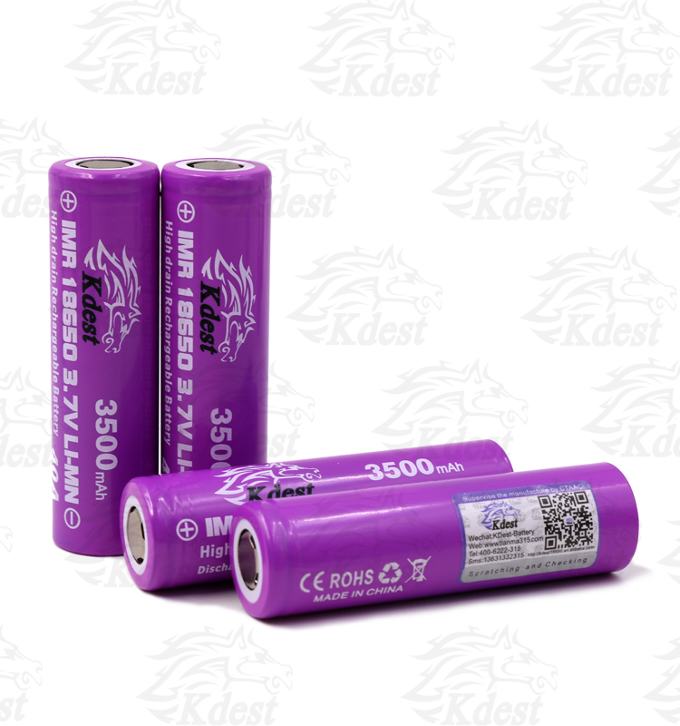 provari/vaporizer mods new KDEST 18650 40amp battery IMR 18650 3000mAh 3.7V 40A battery, 18650 40a,18650 rechargeable batteries