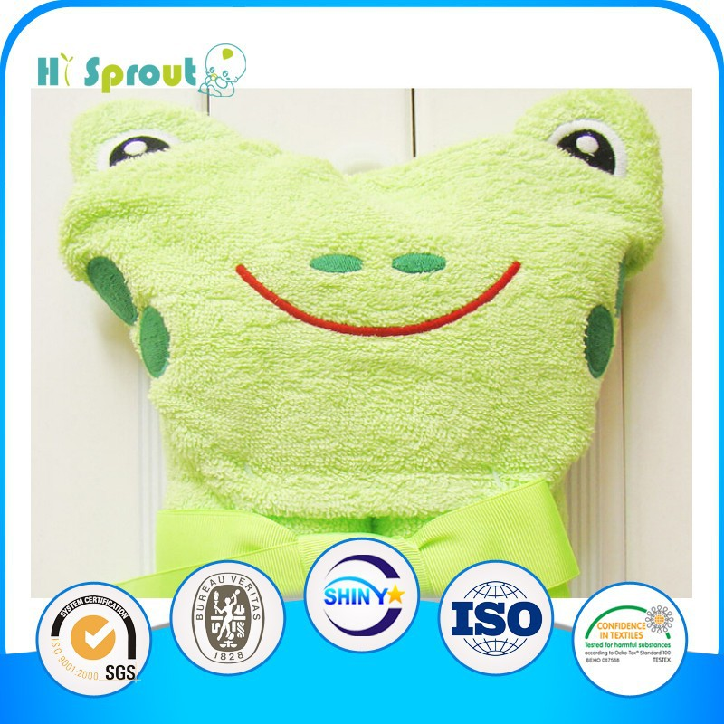 Cute and Light Frog Cartoon Hooded Baby Bath Towels