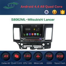 2 din car gps navigation for Mitsubishi Lancer android car dvd player with GPS, DVD , radio, iPod, wifi, 3G