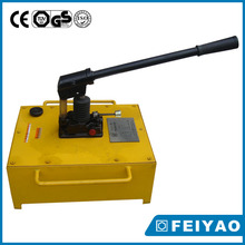 Hand pump with piston shaft for oil heavy machinery