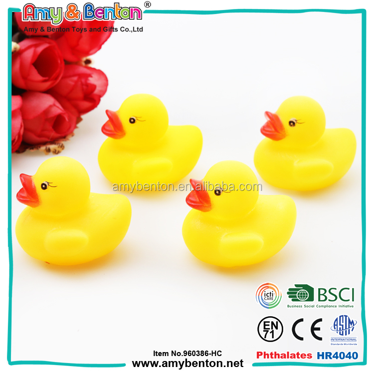 New Fashion cute toys PVC animal bath rubber duck for kids