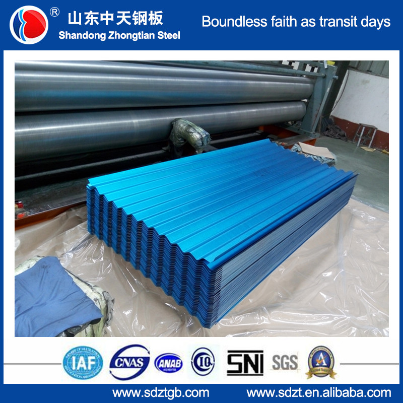 Corrugated roofing sheet/ Wave Tile colored spanish metal roofing tile