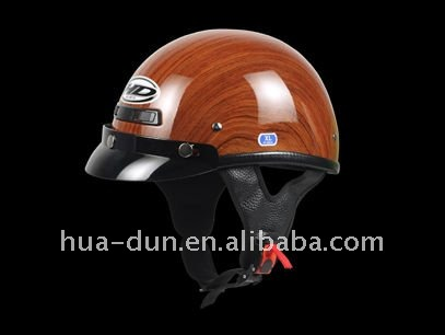 ECE DOT approved wooden design half face schooter helmet