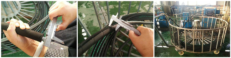 Very Good Quality Industrial Rubber Hose High Pressure Steel Wire Rubber Hose 4SH Steel Wire Spiral Rubber Hose