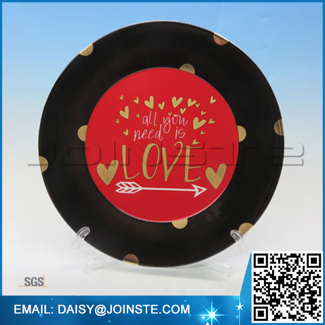 Party plate,valentine party supplies,valentine's day decorations