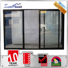 Australian standards AS2047 AS2208 AS1288 double glass aluminium double track sliding door