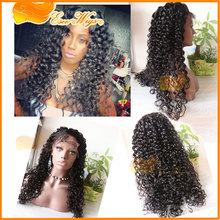 "Factory wholesale 100% human hair virgin brazilian hair lace front wig12""-24"" in stock"