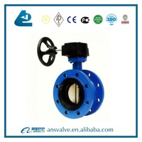 Ductile Cast iron body Flange butterfly valve