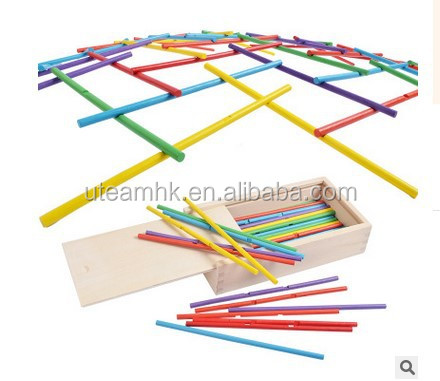 Leonardo Sticks-Wooden Colorful Construction Sticks Building Blocks Toy-Family Games