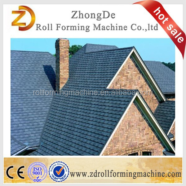 Metal roof tile production line , colorful stone coated steel roof tile , thermal insulation tile