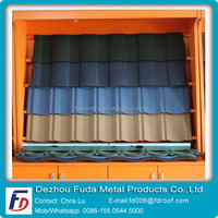 Colorful Stone Chip Coated Al-Zinc Steel Roof Tile Factory