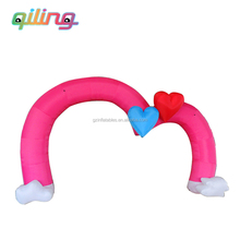 2016 QiLing Best-selling inflatable arch with love ,inflatable wedding archway