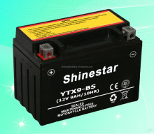 China Supplier Taiwan Battery Manufacturer Sealed 12V 10Ah Motorcycle Battery