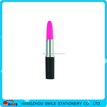 promotional plastic novelty lipstick ballpoint pen with printing logo