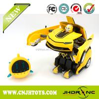 2016 Remote control transform car RC transform robot toy 2.4G car transform robot toy