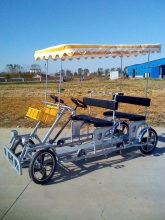 outdoor adult pedal car , pedal car 4 person