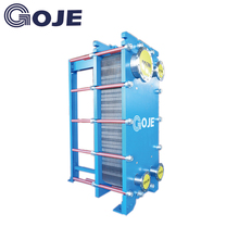 GOJE China patent technology 180 degrees Celsius steam condenser plate heat exchanger forfactory