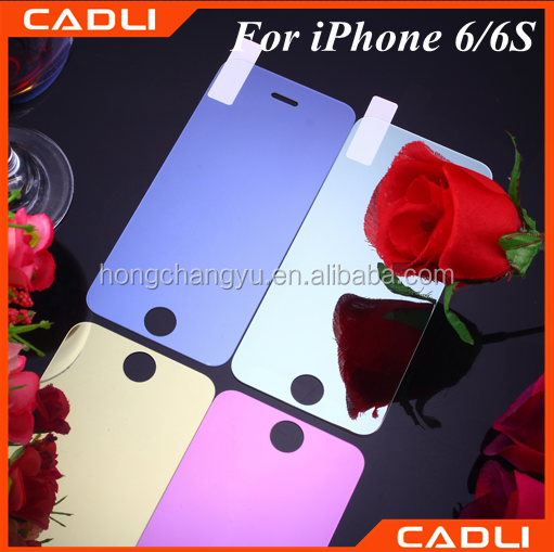 0.33mm Premium Colored Mirror tempered glass screen protector for Iphone 6/6S