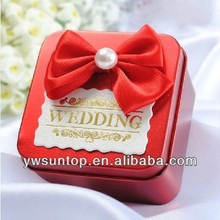 red square tin box wedding favor gift box indian wedding favor boxes
