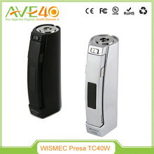 Wismec Presa 40W 2600mAh MOD VV VW Battery 70 Degree Protection Button Lock Big Vapor eCig Mod
