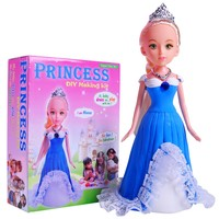 2016 beautiful dressing princess easy doll making kits for girls