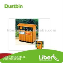 good quality outdoor wooden trash bin LE-LJ018