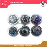 creative present ideas colored glaze bag hanger round metal folding customized handbag holder azure stone purse hook