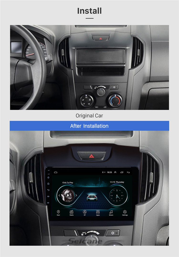 9 Inch Android 9.1 Car Radio GPS Navigation System for Chevy Chevrolet S10 2015-2018 ISUZU D-Max Support Rearview Camera