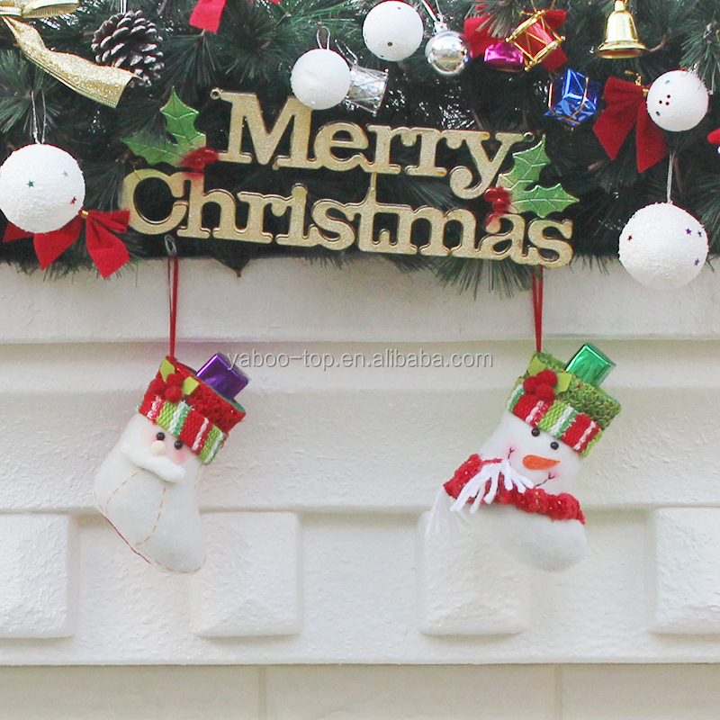 small christmas sock hanging decoration party ornament santa claus elk snowman buy snowman socks giftchristmas hanging santa claus decorationgift bag - Small Christmas Stocking Decorations