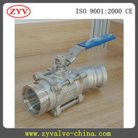 stainless ball valve quick installation