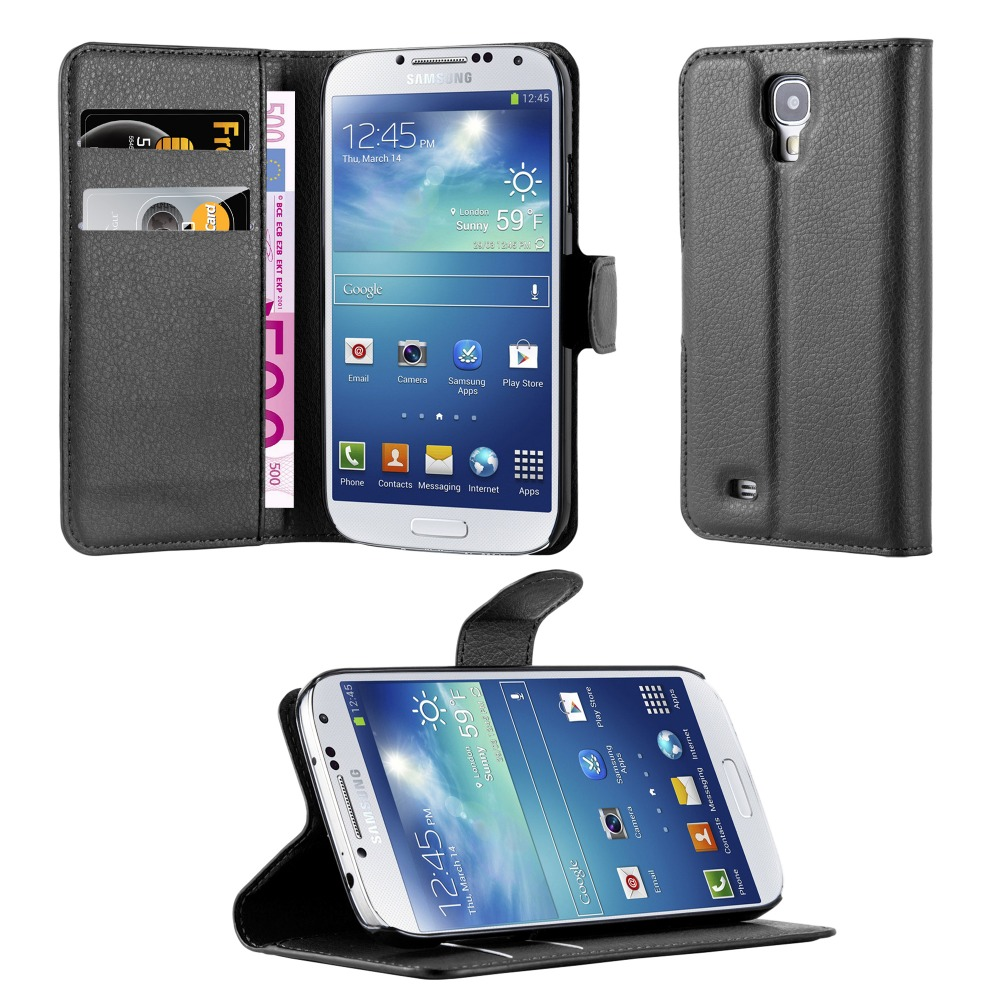 Premium Wallet Leather Moblie Phone Case Cover for Samsung Galaxy S4 I9500