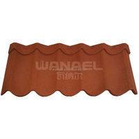 Colorful Stone Coated Metal Roof Tile For Home /Villa House China Supplier Famous Brand WANAEL Roofing Tile
