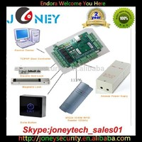 Access control 4 door access control panel + 4access control readers + rfid tags kit