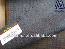 luxury super110 blue100wool for suiting worsted plaid 10161.033/3