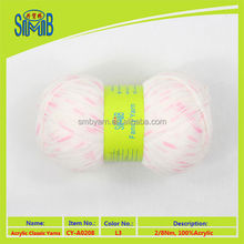 shanghai oeko tex acrylic yarn factory smb tops wholesale eco friendly hand knitting spray dyed yarn