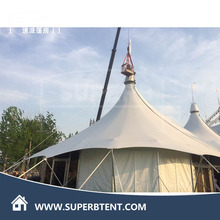 Luxury pvc white event family tent shamiana