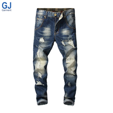 China Factory Homme Hombre Ripped Skinny Fit New Style Men Jeans Trouser