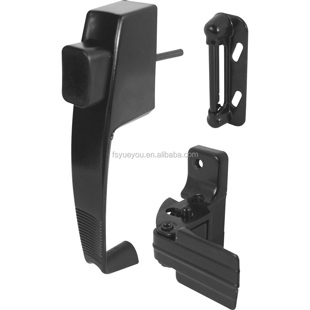 Push Button Latch with Tie Down, Black WNSL-- <strong>01</strong>