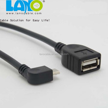 wholesale mini 90 degree micro otg usb cable for pad tab