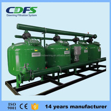 Automatic backflush sand filter cooling water recycling system