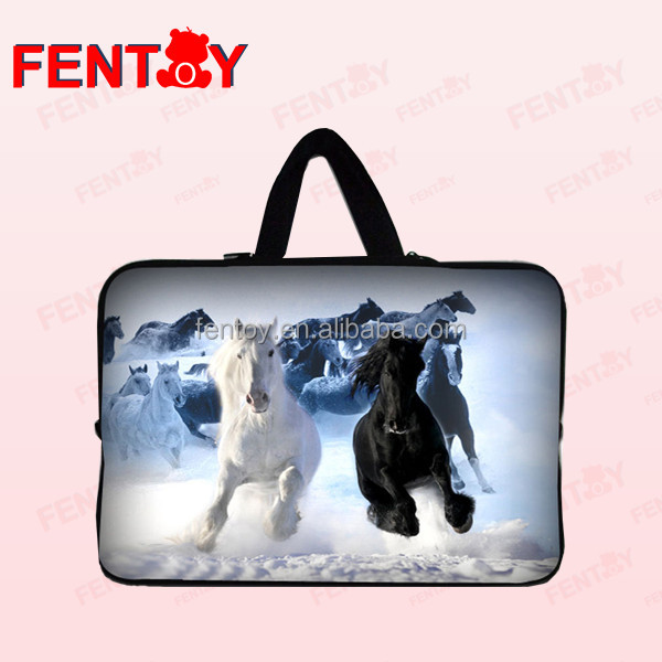Horse design 17 inch best laptop bag for women