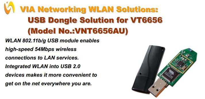 54Mbps USB Wifi Dongle wifi direct module VNT6656AU