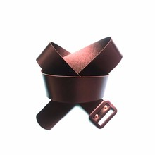 multi color women's casual elastic stretch pu belt with alloy buckle baseball belt