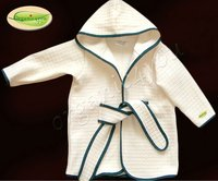 %100 Organic Cotton Baby Bathrobe
