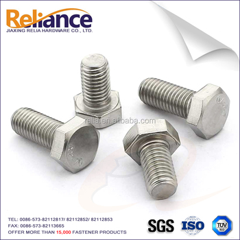 ASME/ANSI B18.2.1 A2-70 Hex Cap Screw Stainless Steel 304 For Building
