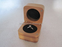 bamboo wood ring box with laser engraving logo