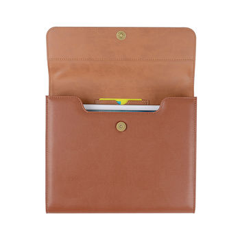 File Bags with Card Slot PU Leather File Holder Document Organizer File Folder Office Accessories Business Supply