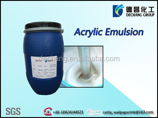 Water based acrylic copolymer emulsion for calendering varnish printing AscentPoly F-1619