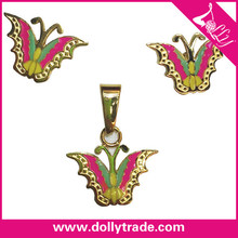 2015 Fashion Butterfly Earring and Pendant Sets