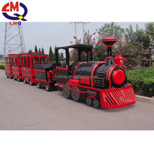 Fiberglass electric trackless diesel attraction kids amusement park trains for sale